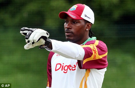 Point made: Gayle has had plenty to say ahead of the second Test
