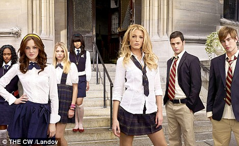 Glamorous: The cast of U.S. teen soap Gossip Girl