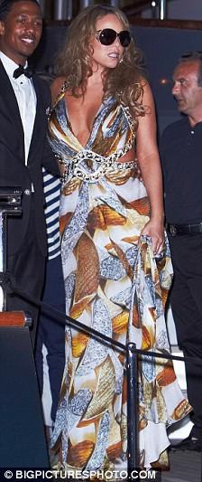 Mariah Carey Nick Cannon Roberto Cavailli's yacht Cannes