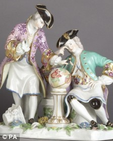 Meissen porcelain found at the Terry Adams' home in 2003