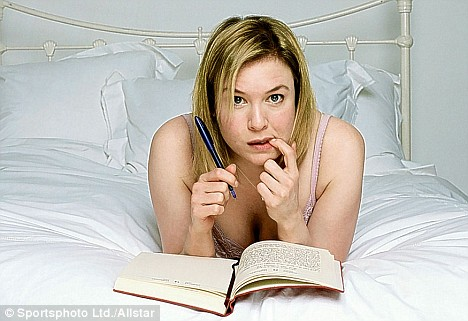 Modern disease: Renee Zellweger in the film Bridget Jones, which focuses on the heroine's repeated attempts to find love and control her life and career