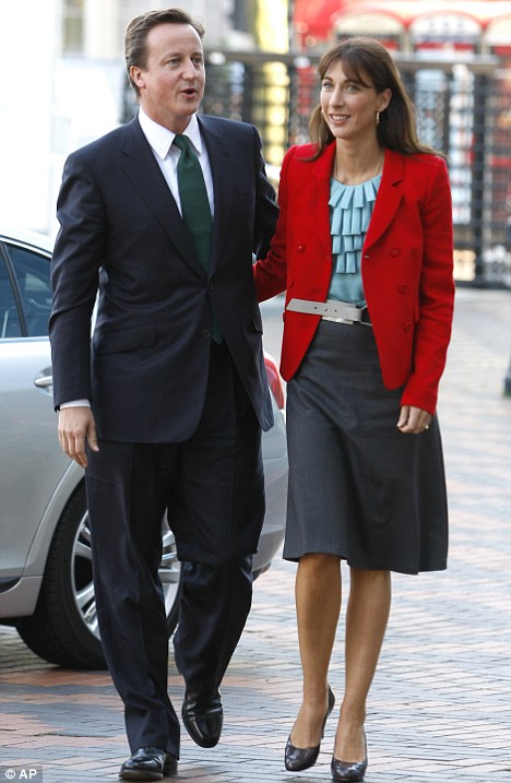 Shock: David Cameron and wife Samantha were said to be 'upset' about the audacious break-in