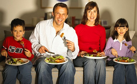 TV dinners: More than one in five families said this described their time together in a survey by to celebrate National Family Week