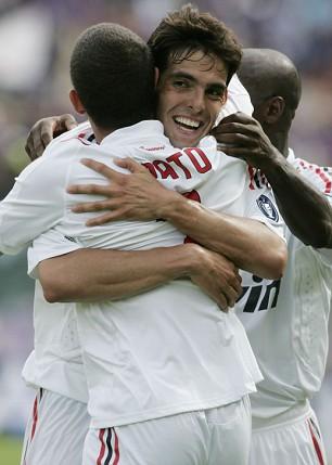 AC Milan's Kaka and Alexandre Pato
