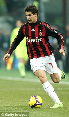 Forward Pato of AC Milan