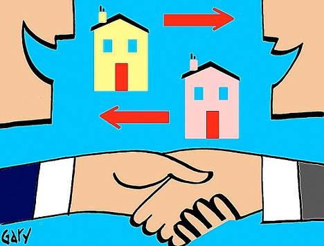 Cut out the middle man: Agreeing to swap your home with another owner can save on estate agency fees