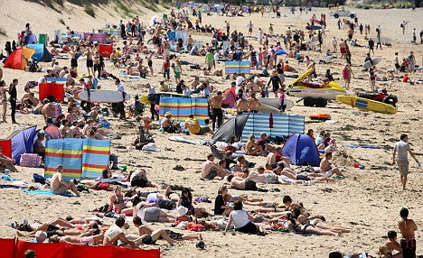 Beach bound: With the mercury set to rise again this weekend Britain's beaches are sure to be packed out