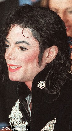 Before the corrective surgery: Jackson's ear on show in Cannes in 1997