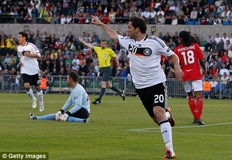 Herr raiser: Gonzalo Castro (20) stunned England with an early goal - but Gremany's lead did not last too long