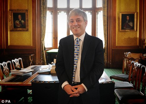 Mr Bercow in his new Commons office today