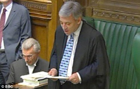 ohn Bercow takes his seat as Commons Speaker