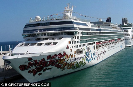 Luxury: Oprah and her gang are onboard this luxury liner