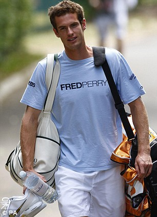 Andy Murray makes his way to the practice courts today