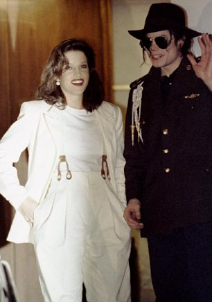 Michael Jackson with Lisa Maria Presley