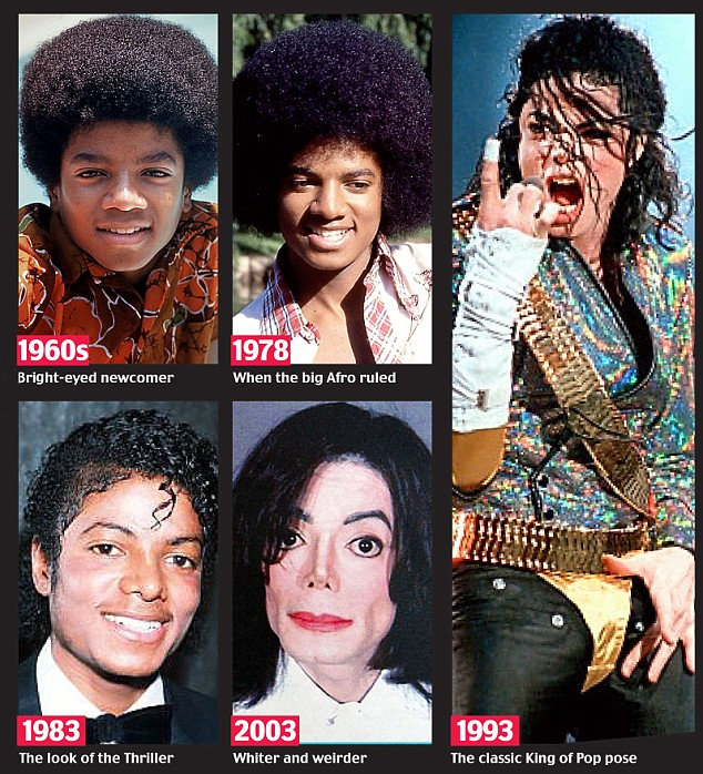 Through the years: He blamed the extreme change in his appearance on a skin condition