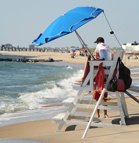 Lifeguards at the Asbury Park beach