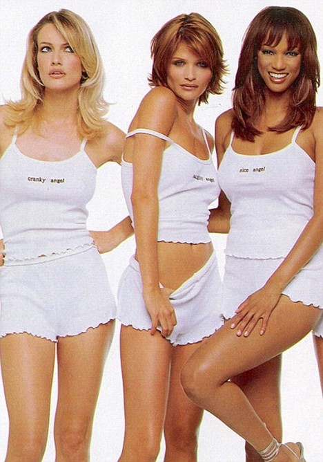 Icon: Mulder (left) with Helena Christensen (centre) and Tyra Banks
