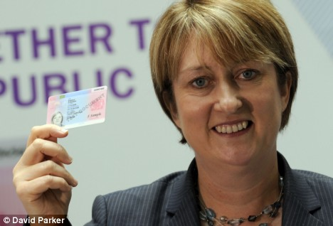 Jacqui Smith unveils the ID card in September 2008
