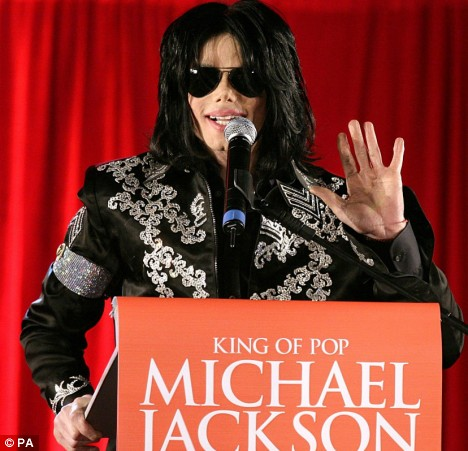 Michael Jackson announces his O2 shows at a London press conference in March