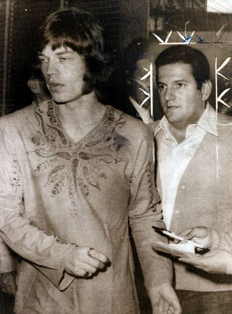 Klein with Mick Jagger