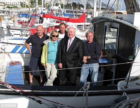 Cathy Jackman with fellow members of the Torbay diving club