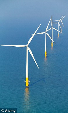 The levies - dubbed 'green stealth taxes' will help pay for the building of 7,000 wind turbines over the next 11 years