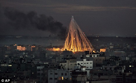 Explosions from Israeli military operations