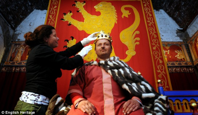 Statement of power: The throne room features an opulent interior, furnished to evoke its original appearance. Costumed re-enactors and audio-visual technology will complete the medieval experience