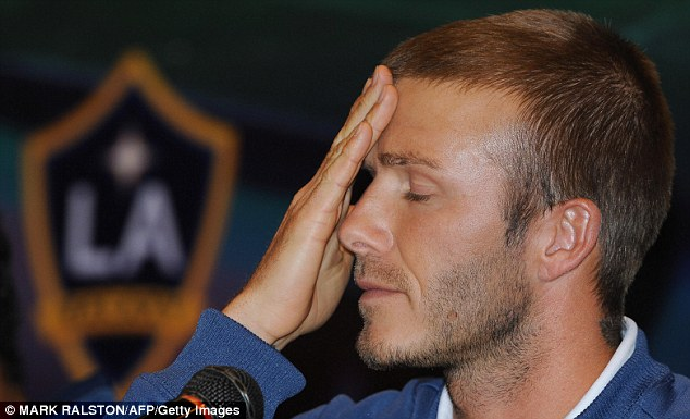 David Beckham during a press conference on 2 March 2008