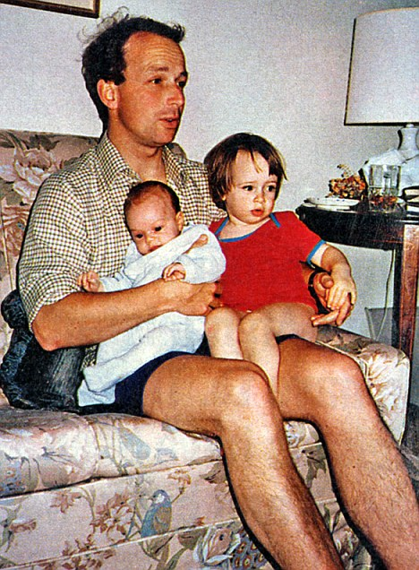 Family man: The General with daughters Jo, right, and Pippa when they were young