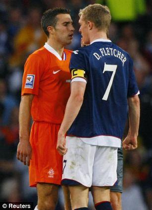 Robin van Persie and Darren Fletcher