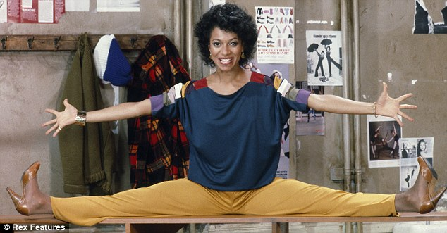 Ouch! Debbie Allen does the splits in Fame!
