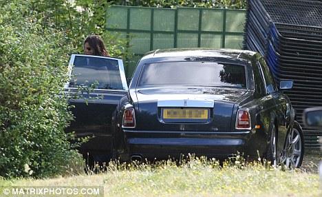 Sophie arrives for the bridal lunch