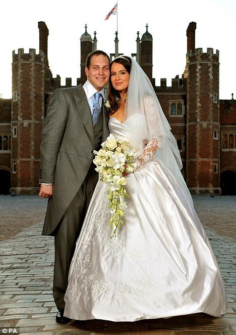 Lord Freddie Windsor poses with his bride Sophie Winkleman