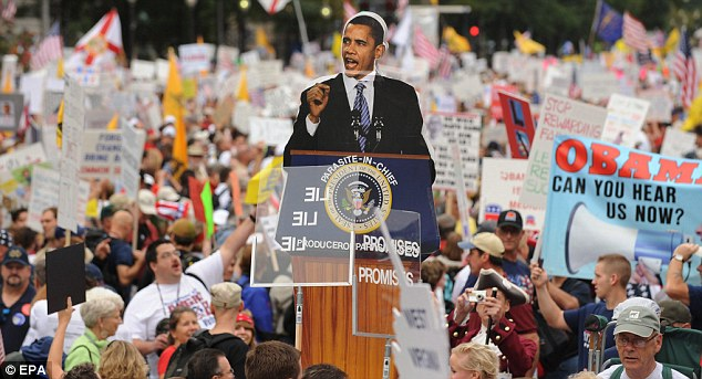 'Parasite-in-chief': The title given to the American President during the demonstrations on Saturday