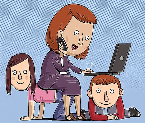 Working mother: But life isn't always easy when you are combining a career with childcare