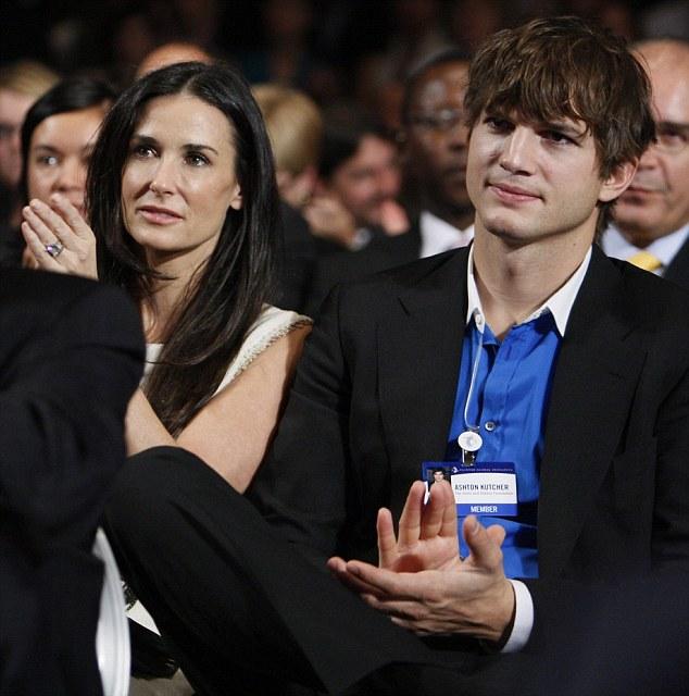Demi Moore and actor Ashton Kutcher