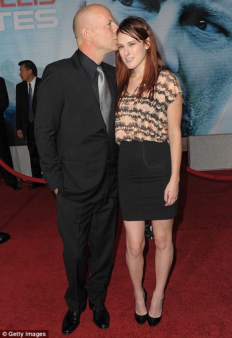 Actor Bruce Willis and daughter, actress Rumer Willis
