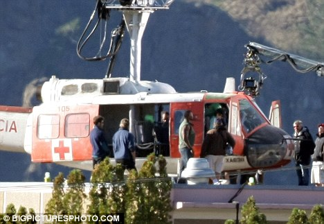 Quinton Jackson is seen next to a helicopter in the A-Team remake