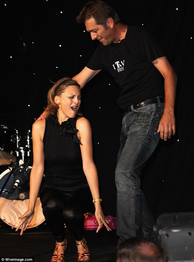 Grease is the word: Katie Derham and Steve Scott of the ITV news team perform for the judging panel