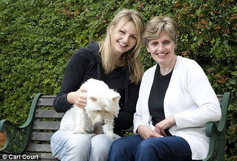 At a loss: Rosalinde Westbrooke with daughter Melissa and dog Rosie. Mrs Westbrooke has been left more than £30,000 out of profit