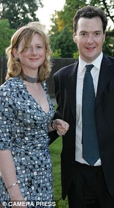 eorge Osborne, Tory shadow Chancellor and his wife, author Frances Osborne