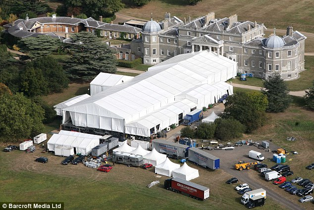 Simon Cowell birthday party Wrotham Park Hertfordshire