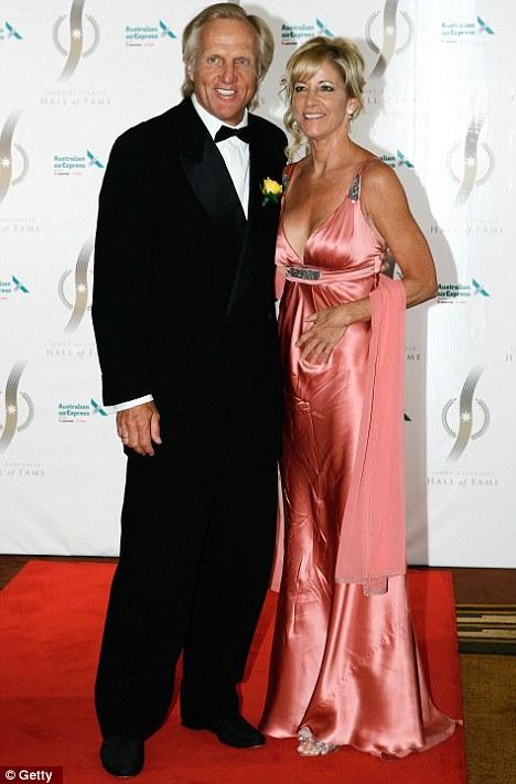 Greg Norman and wife Chris Evert