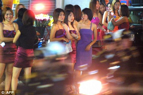The red-light district of Bangkok
