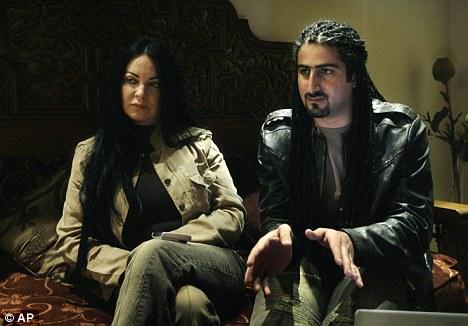Omar bin Laden with his British wife Jane Felix-Brown, who he married in 2007