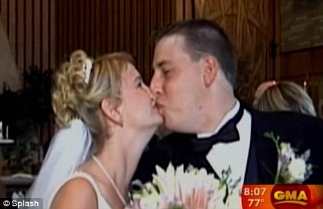 Mike and Julie Boyde on their wedding day - her body kills her husband's sperm