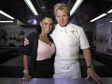 Gordon Ramsay, pictured with Jordan on the F Word