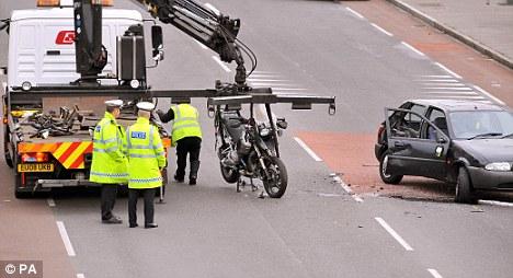 The motorcycle of Tottenham goalkeeper Carlo Cudicini