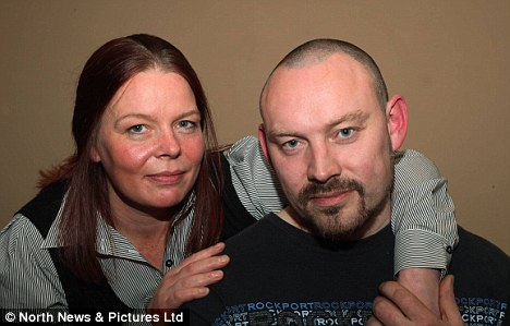 Recovered: Mr Ripley, 39 at home with 38-year-old partner Helen Todd